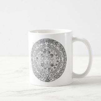 The Aztec Sun Calendar Circular Stone Design Coffee Mug