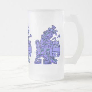 The Aztecs Frosted Glass Beer Mug