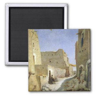 The Bab-El-Gharbi Road, Laghouat, 1859 2 Inch Square Magnet