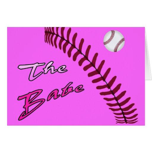 """The Babe,"" Baseball, & Baseball ""Tread"" Card"