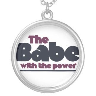 The Babe Round Pendant Necklace