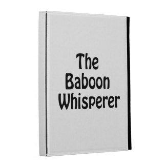 the baboon whisperer iPad cases
