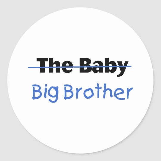 The Baby Big brother Classic Round Sticker