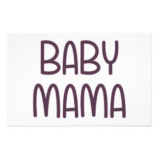The Baby Mama (i.e. mother) Stationery