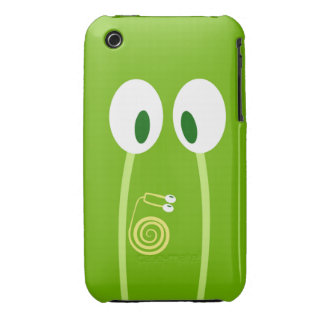 The baby snail rises by the papa antennas Case-Mate iPhone 3 cases
