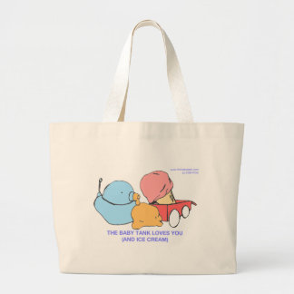 the baby tank loves you (and ice cream) canvas bag