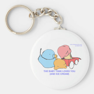 the baby tank loves you (and ice cream) keychain