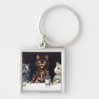 The Bachelor Party Silver-Colored Square Keychain