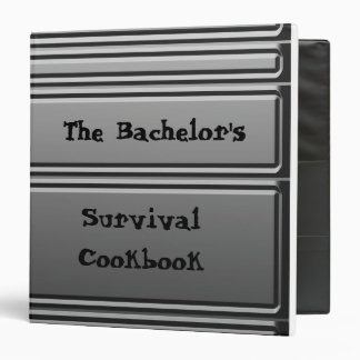 The Bachelor's Survival Cookbook Binder