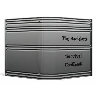 The Bachelor's Survival Cookbook - Riveted Binder binder