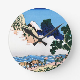 The back of the Fuji from the Minobu river Round Wall Clock
