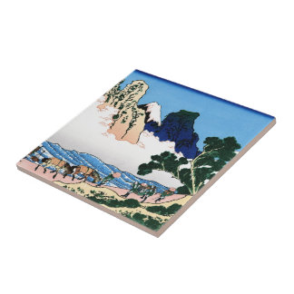 The back of the Fuji from the Minobu river Tile