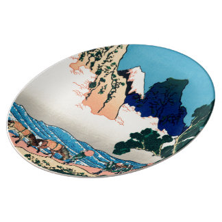 The back of the Fuji Porcelain Plate