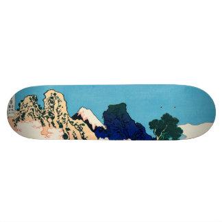The back of the Fuji Skateboard Deck