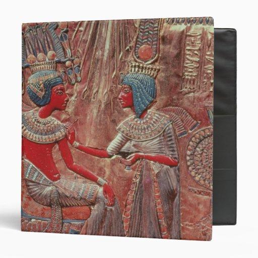 The back of the throne of Tutankhamun Vinyl Binders