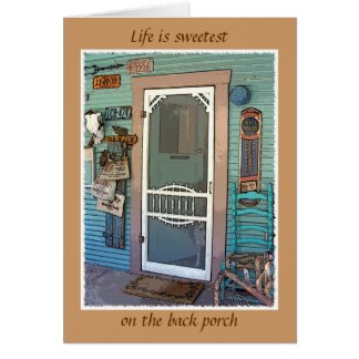 """""""The Back Porch"""" Card"""