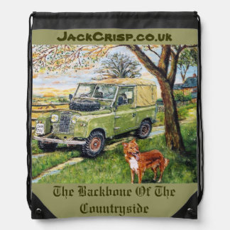 The Backbone Of The Countryside Drawstring Bag