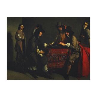 The Backgammon Players Canvas Print