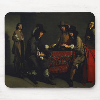 The Backgammon Players Mouse Pad