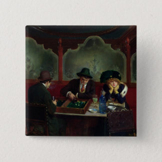 The Backgammon Players Pinback Button