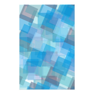 the-background-387205 ASSORTED BLUE LAYERED SQUARE Personalized Stationery