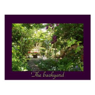 The backyard postcard