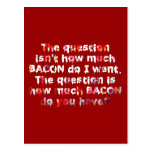 The BACON Question! Postcards