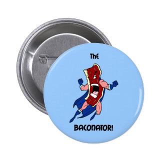 the baconator pinback button