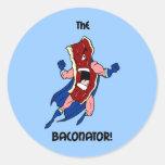 the baconator classic round sticker
