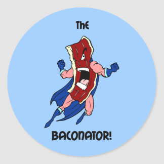 the baconator classic round sticker