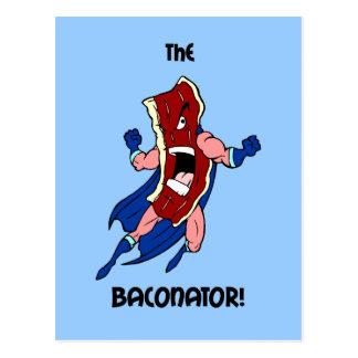 the baconator postcard