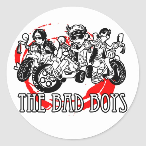 The Bad Boys of tricycle Classic Round Sticker