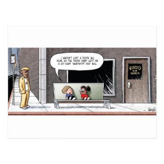 The Bad-Economy Tooth Fairy Postcard