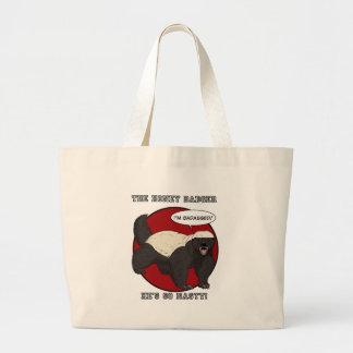 The Badassed Honey Badger Canvas Bags