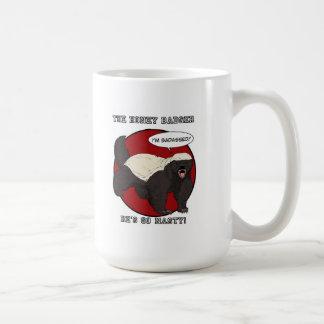 The Badassed Honey Badger Classic White Coffee Mug