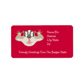 The Badgering Badger_Friendly Greetings Address Label