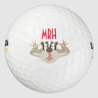 The Badgering Badger_It's my ball_Personalized Pack Of Golf Balls