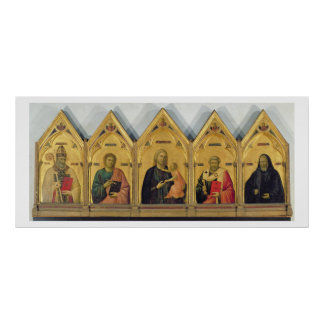 The Badia Altarpiece with Madonna and Saints, c.13 Poster