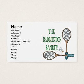 The Badminton Bandit 2 Business Card
