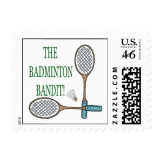The Badminton Bandit 2 Postage Stamp