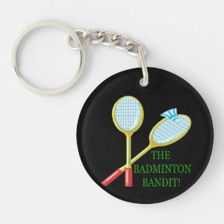 The Badminton Bandit Keychain