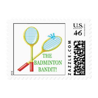 The Badminton Bandit Stamp
