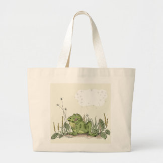 The bag with funny green frog picture
