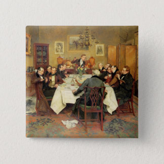 The Bagman's Toast 'Sweethearts and Wives'(oil on Pinback Button