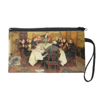 The Bagman's Toast 'Sweethearts and Wives'(oil on Wristlet Purse