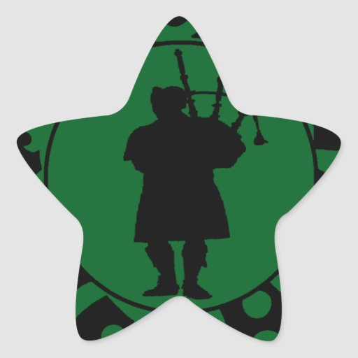 THE BAGPIPES EXPRESSION STAR STICKER