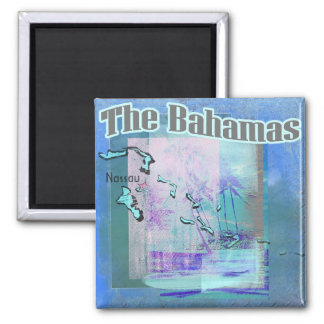 The Bahama Blues 2 Inch Square Magnet