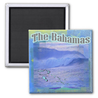 The Bahama Waves 2 Inch Square Magnet