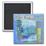 The Bahamas 2 Inch Square Magnet