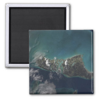 The Bahamas' Andros Island 2 Inch Square Magnet